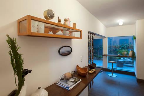 Departamento Roma Oaxaca : Estudios y oficinas de estilo moderno por Germán Velasco Arquitectos