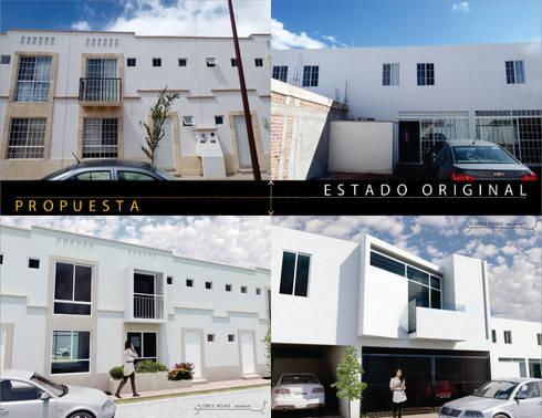 AMPLIACIÓN Y REMODELACIÓN CASA EL DORADO. Comparativa:  de estilo  por Flores Rojas Arquitectura