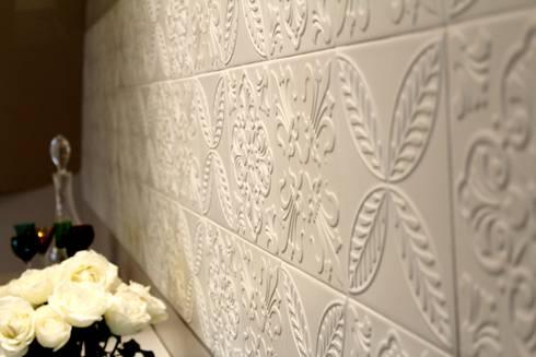 Sala de estar e jantar – Inspiração Turquesa: Salas de jantar modernas por Daiana Oliboni  Design de Interiores