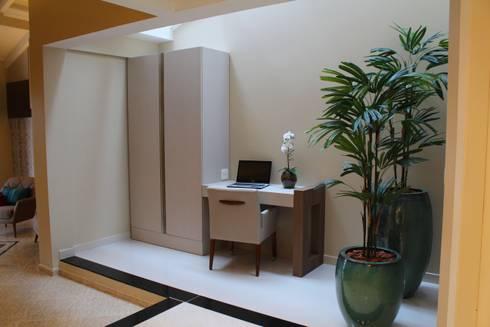 Sala de estar e jantar – Inspiração Turquesa: Escritórios  por Daiana Oliboni  Design de Interiores