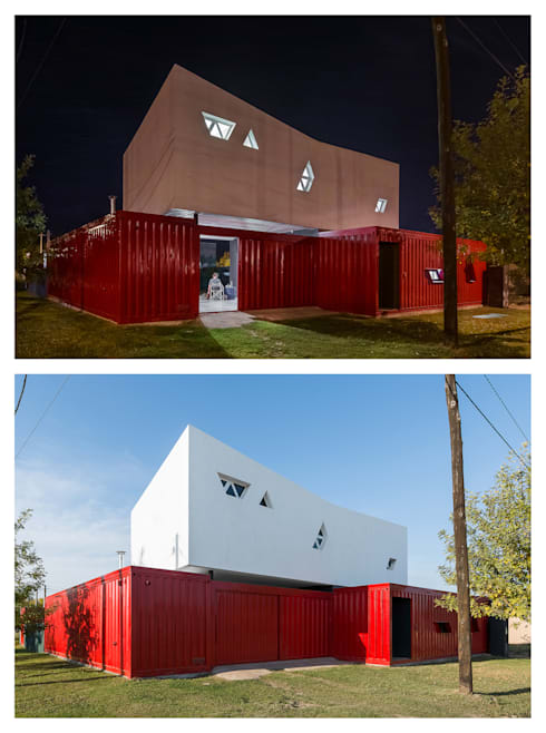Casa Container: Casas de estilo  por estudioscharq