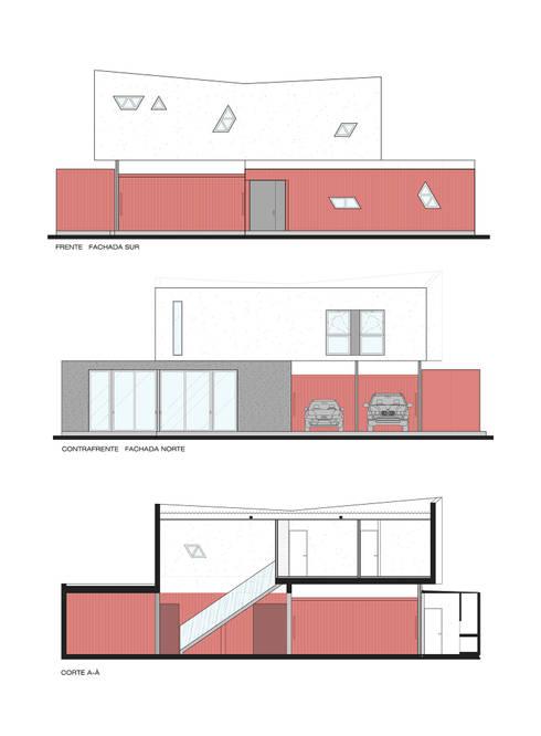 Projekty, nowoczesne Domy zaprojektowane przez estudioscharq