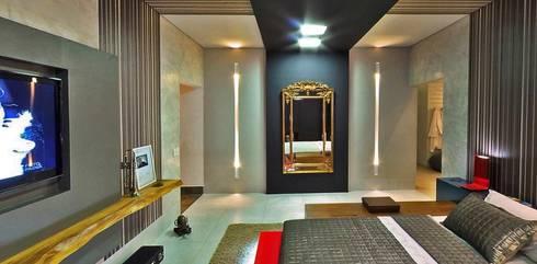 Quarto do Jovem Casal -  Casa Cor MT 2011: Quartos  por Marcus Leão Arquitetura