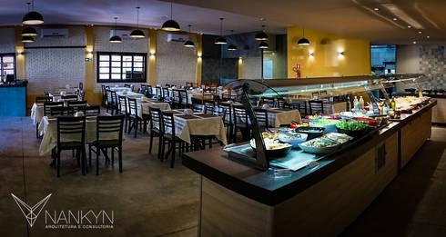 Salão & Buffet: Espaços gastronômicos  por Nankyn Arquitetura & Consultoria