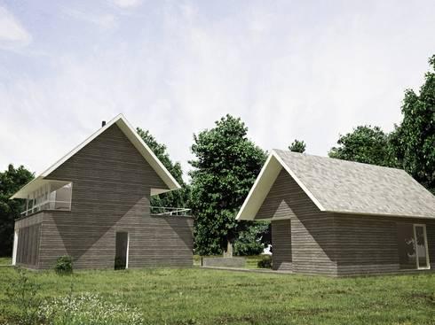 Casa – Taller : Casas de estilo minimalista por RRA Arquitectura