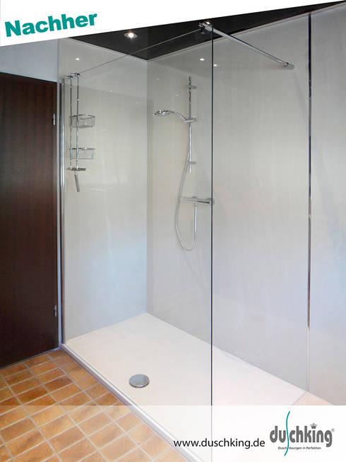 fugenlose duschr ckw nde von duschking gmbh homify. Black Bedroom Furniture Sets. Home Design Ideas