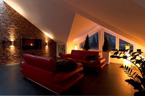 Stimmungsvolles Licht Im Wohnzimmer