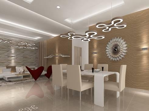SALARPURIA SATTVA, MOCK UP APARTMENT, BANGALORE. (www.depanache.in): modern Dining room by De Panache  - Interior Architects