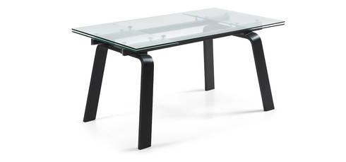 Mesas de refeições de vidro extensíveis Extendable glass dining tables : Sala de jantar  por Intense mobiliário e interiores;