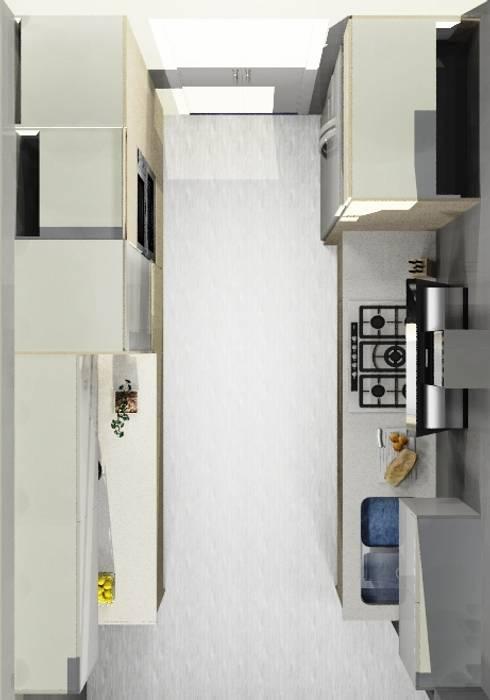 COCINA PEQUEÑA: Cocinas de estilo moderno por ARCE MOBILIARIO