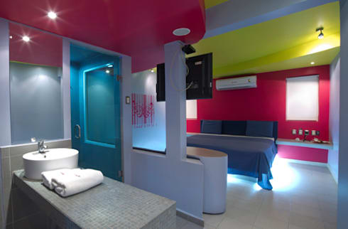 Hotel Condesa de Malibrán : Recámaras de estilo moderno por DIN Interiorismo