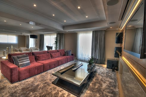 Living: Salas de estar modernas por Pauline Kubiak Arquitetura