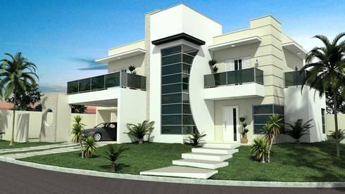 Residência em Condomínio: Casas modernas por valente arquitetura e construção