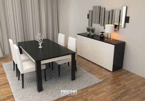 Sala de Jantar ARENA16: Sala de jantar  por MARINA CONCEPT