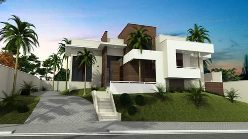 Residência Moderna: Casas modernas por valente arquitetura e construção