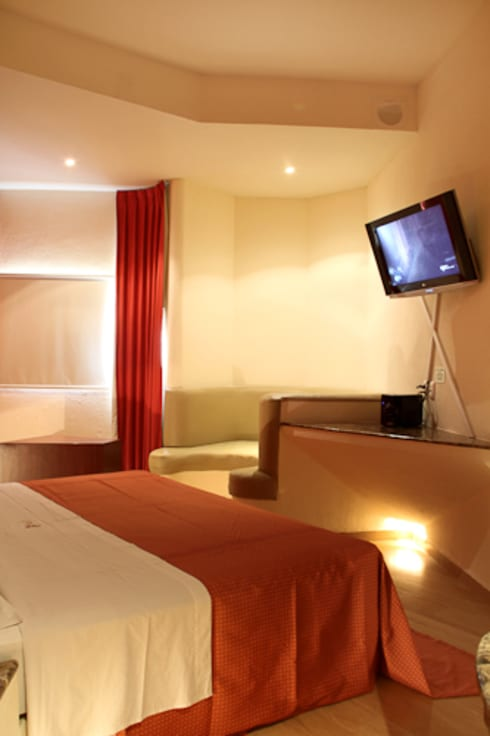Hotel Sens : Recámaras de estilo moderno por DIN Interiorismo