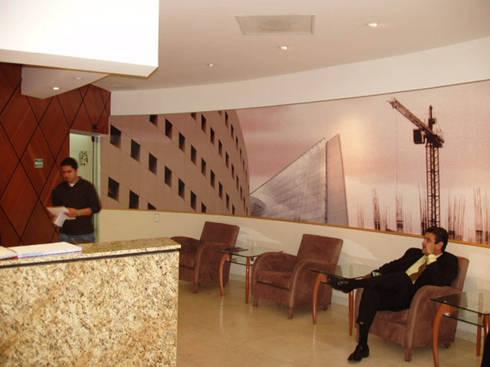 Prodemex : Estudios y oficinas de estilo moderno por DIN Interiorismo