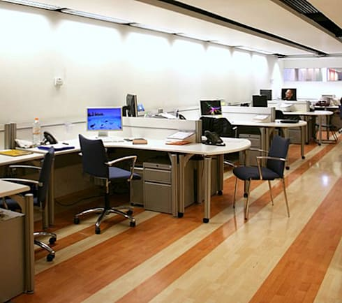 Excélsior : Estudios y oficinas de estilo moderno por DIN Interiorismo