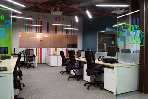 Barrilito : Estudios y oficinas de estilo moderno por DIN Interiorismo