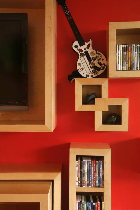 Casa A.P: Paredes de estilo  por DIN Interiorismo