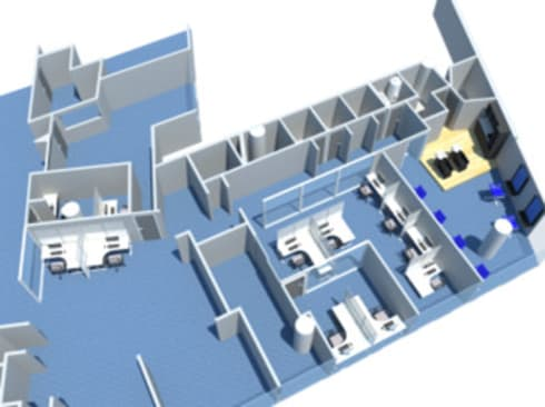 Propuesta nuevas oficinas y salón de talleres: Oficinas de estilo moderno por Constructora G-9