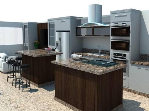Vista Cocina 1: Cocina de estilo  por Constructora G-9