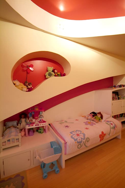 Departamento Chelu : Recámaras infantiles de estilo moderno por DIN Interiorismo