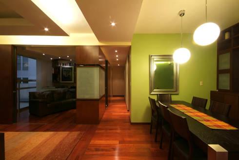 Departamento Viniegra: Comedores de estilo moderno por DIN Interiorismo