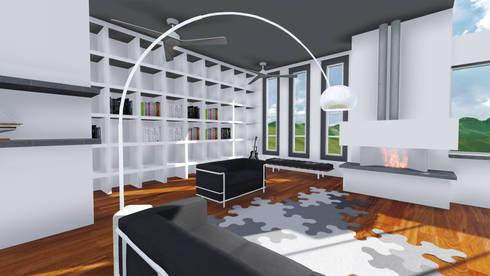 PROYECTO DE REMODELACION TRES ARROYOS: Salas de estilo minimalista por A-labastrum   arquitectos