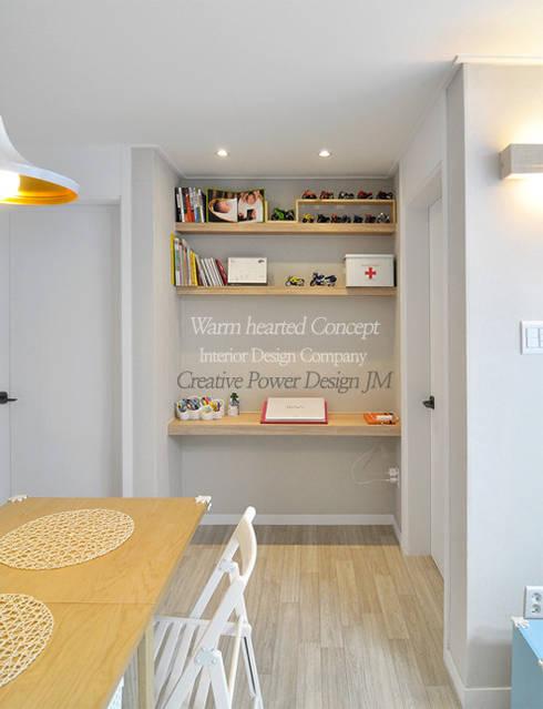 수원 정자동 한라비발디 27평: JMdesign 의  거실