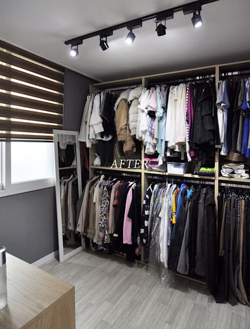 수원 정자동 한라비발디 27평: JMdesign 의  드레스 룸