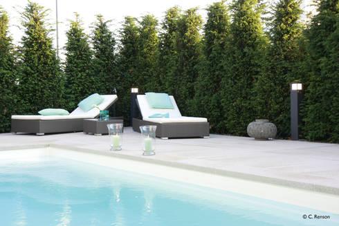 reduzierter garten mit pool by dirlenbach - garten mit stil | homify, Garten Ideen