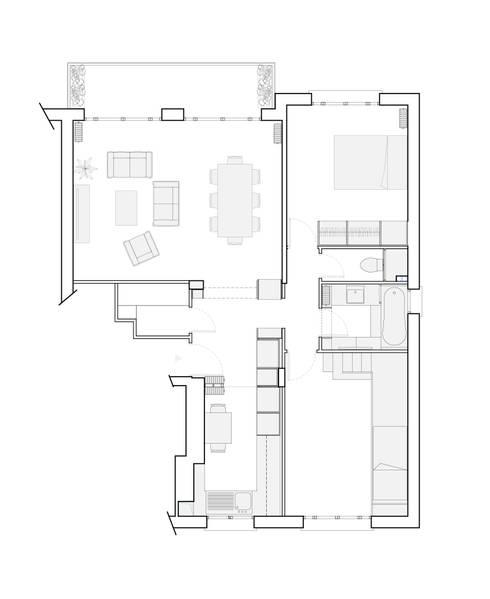 Phòng khách by Belle Ville Atelier d'Architecture