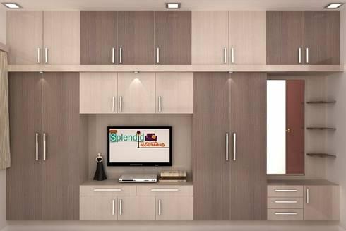 Wardrobes: modern Living room by Splendid Interior & Designers Pvt.Ltd