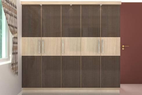 Wardrobes: modern Bedroom by Splendid Interior & Designers Pvt.Ltd