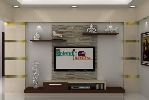 TV Units: modern Living room by Splendid Interior & Designers Pvt.Ltd