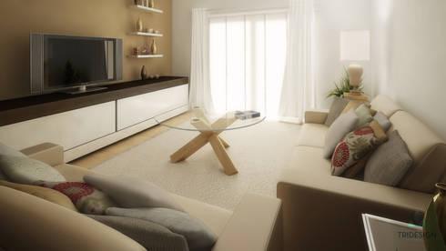 Imagens 3D / Design Interiores: Sala de estar  por Tridesign