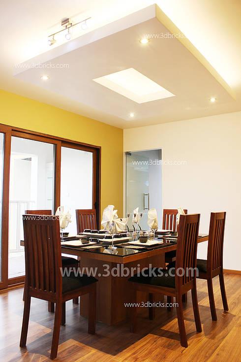 Interiors: modern Dining room by 3DBricks