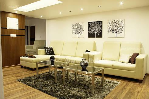 Interiors: modern Living room by 3DBricks