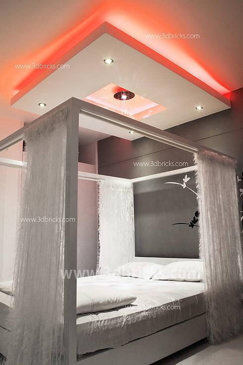Interiors: modern Bedroom by 3DBricks