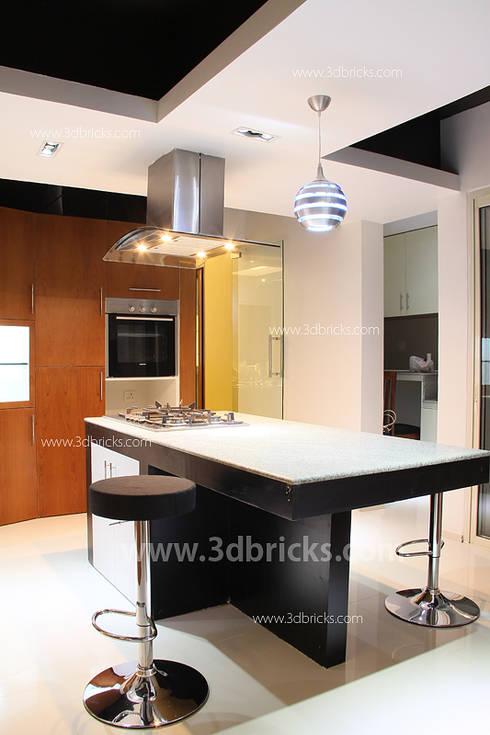 Interiors: modern Kitchen by 3DBricks