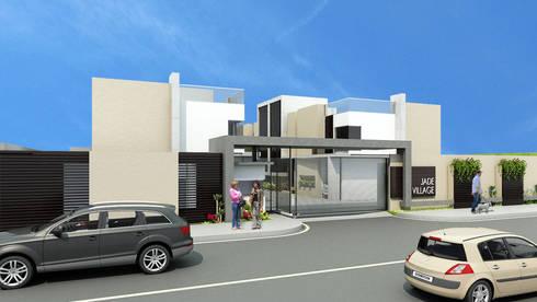 Jade Village: Casas de estilo moderno por NOGARQ C.A.