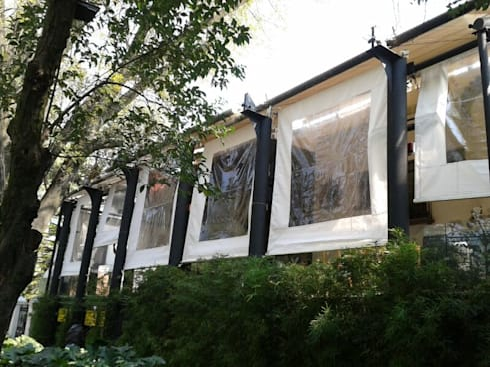 Sistemas de toldo Gaviota retractiles (Motorizado o Manual): Jardín de estilo  por GAVIOTA MEXICO