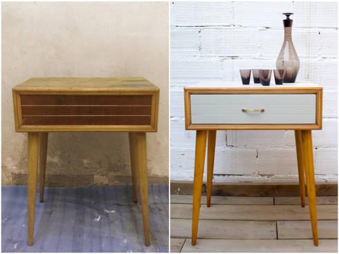 Muebles pintados y transformados de studio alis homify for Mesitas de noche anos 50