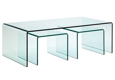 Mesas de centro Coffee tables: Sala de estar  por Intense mobiliário e interiores;
