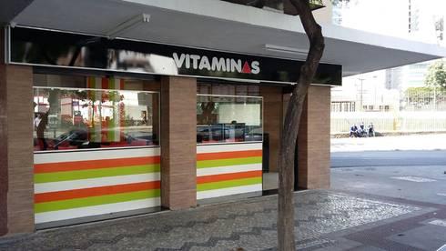 Lanchonete VitaMinas: Bares e clubes  por Solange Figueiredo - ALLS Arquitetura e engenharia