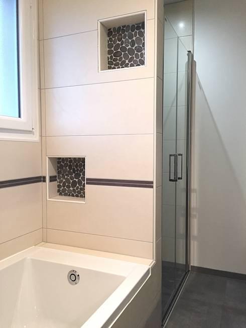 Des Rangements Dans Une Douche Et Une Baignoire! Par Rg Intérieur