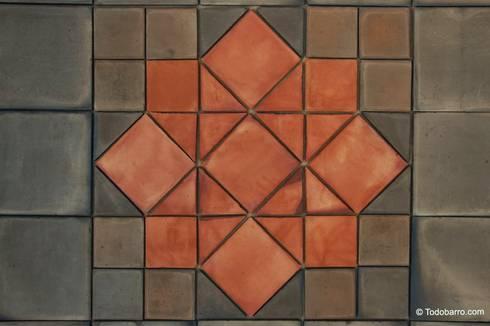 Pavimento cerámico de barro Salomón (01): Paredes y suelos de estilo clásico de Todobarro