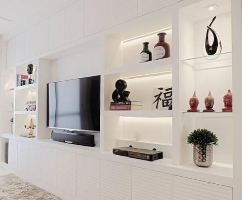 Apartamento Chácara Inglesa - São Paulo - SP: Salas de estar modernas por Studio LK Arquitetura e Interiores
