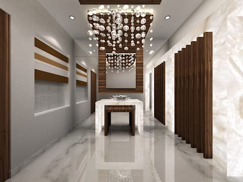 RESIDENTIAL INTERIORS AT TRICHY. (www.depanache.in): modern Dining room by De Panache  - Interior Architects